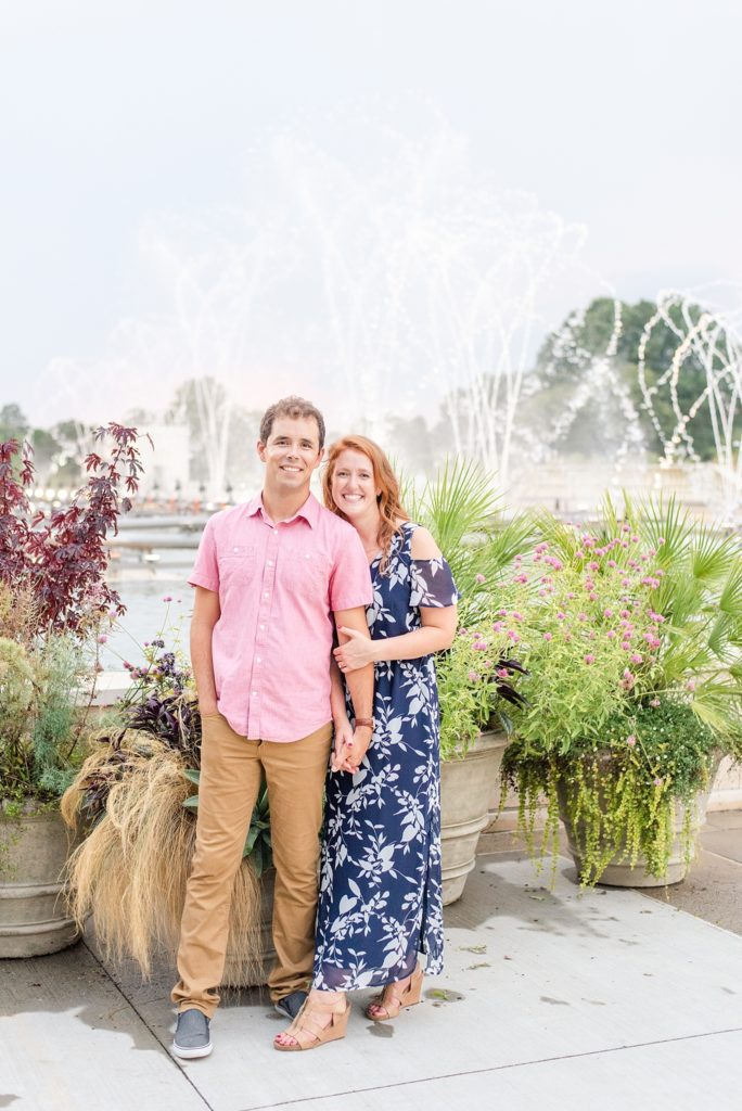 engagement session in Longwood Gardens with Renee Nicolo Photography