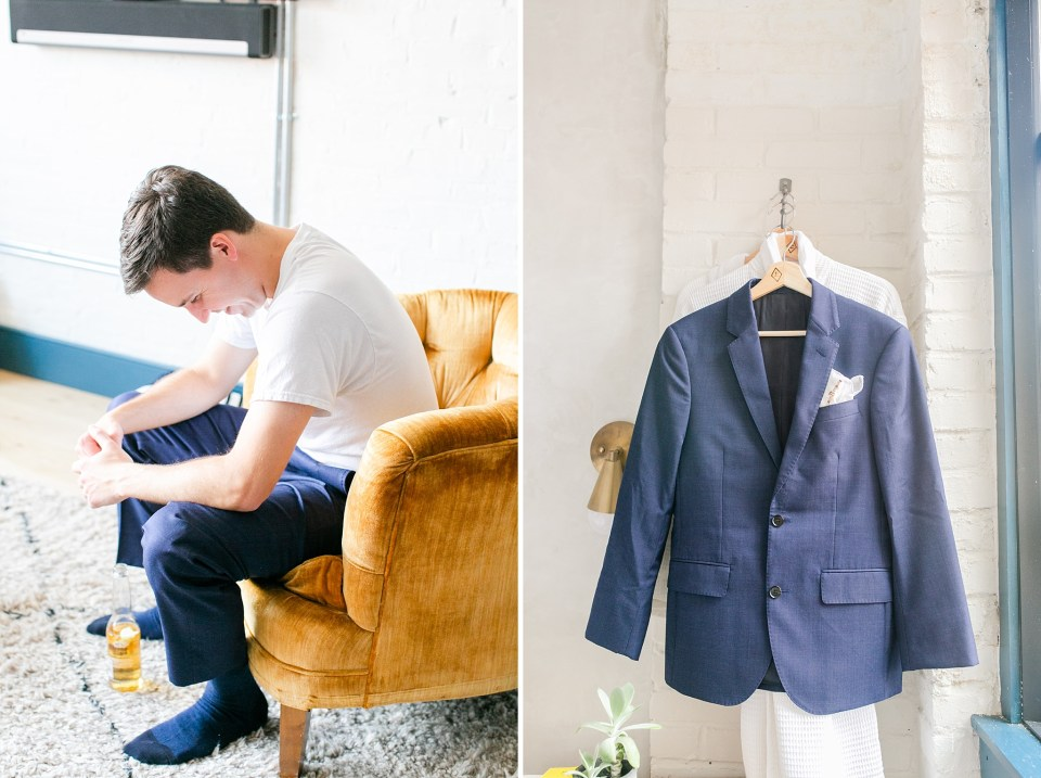 Renee Nicolo Photography photographs groom preparing for Philly wedding day