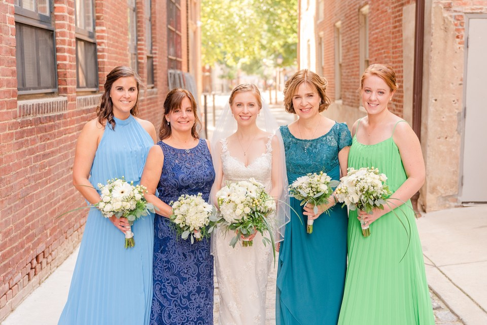 Renee Nicolo Photography photographs bride with bridesmaids and mothers