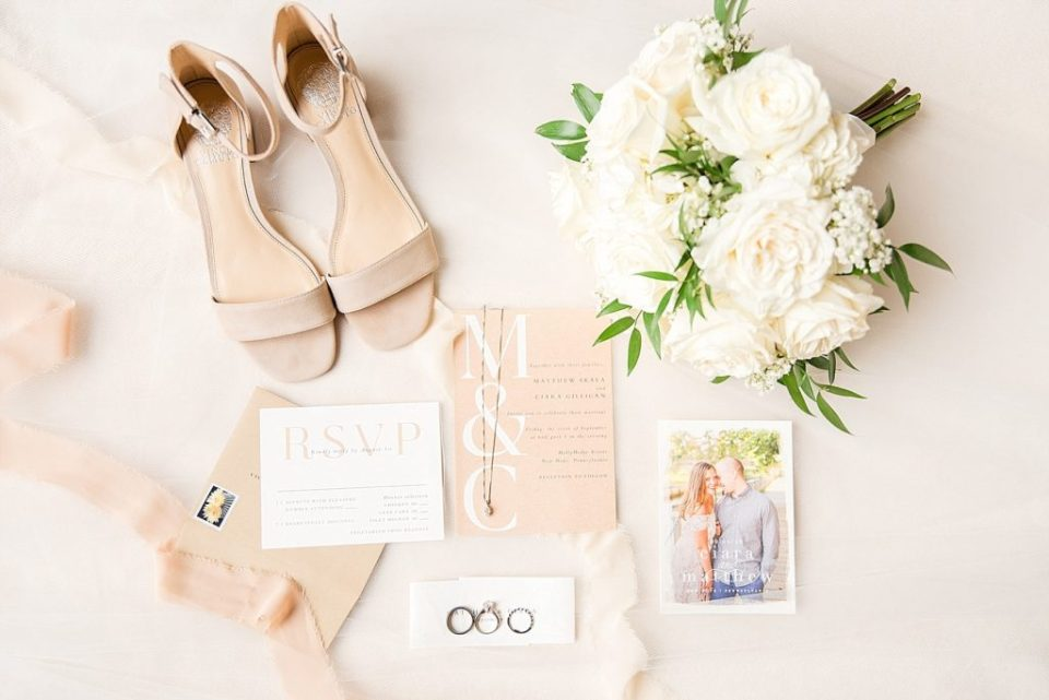 summer wedding details photographed by PA wedding photographer Renee Nicolo Photography