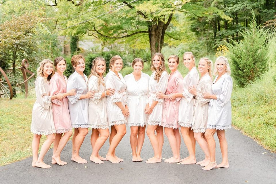 bridesmaids prepare for PA wedding day with Renee Nicolo Photography