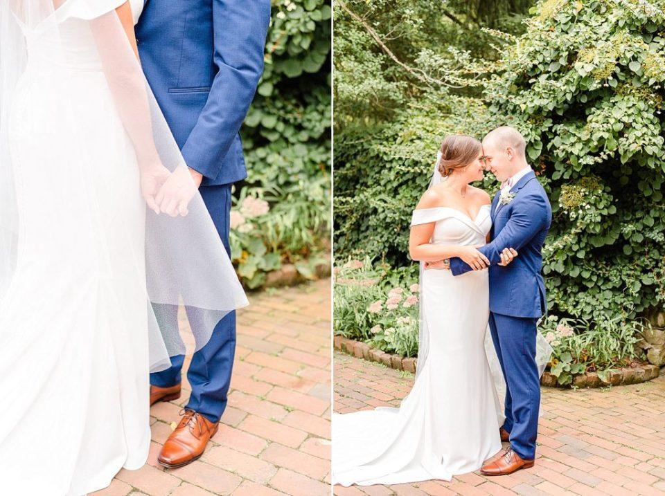bride and groom portraits by Pennsylvania wedding photographer Renee Nicolo Photography