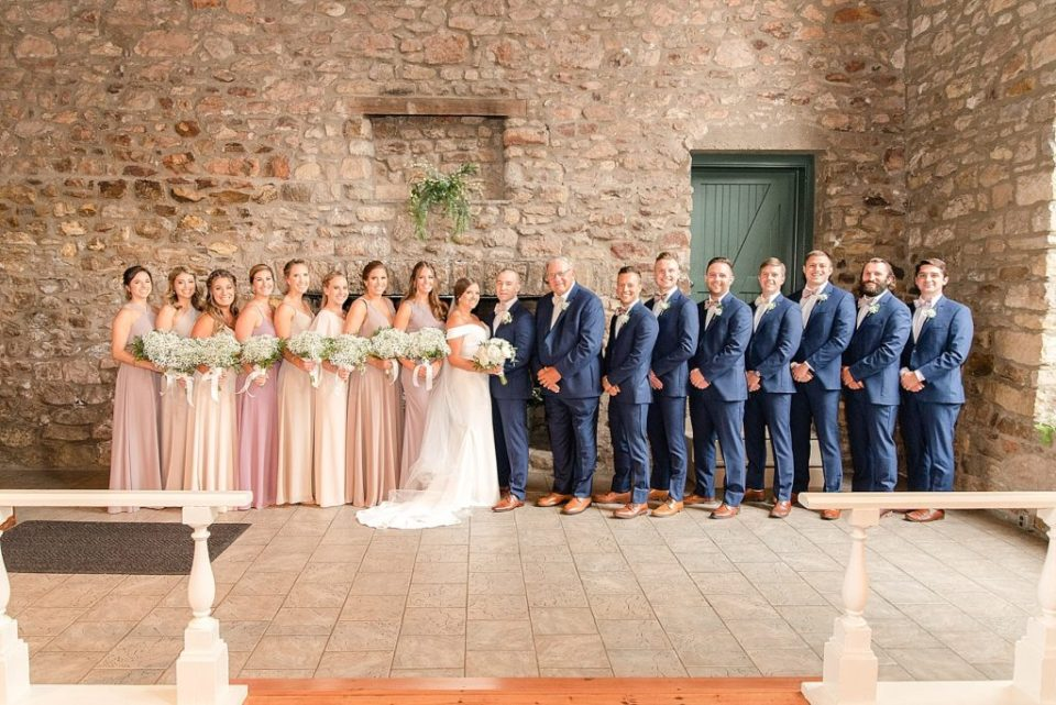 bridal party at HollyHedge Estate photographed by Renee Nicolo Photography