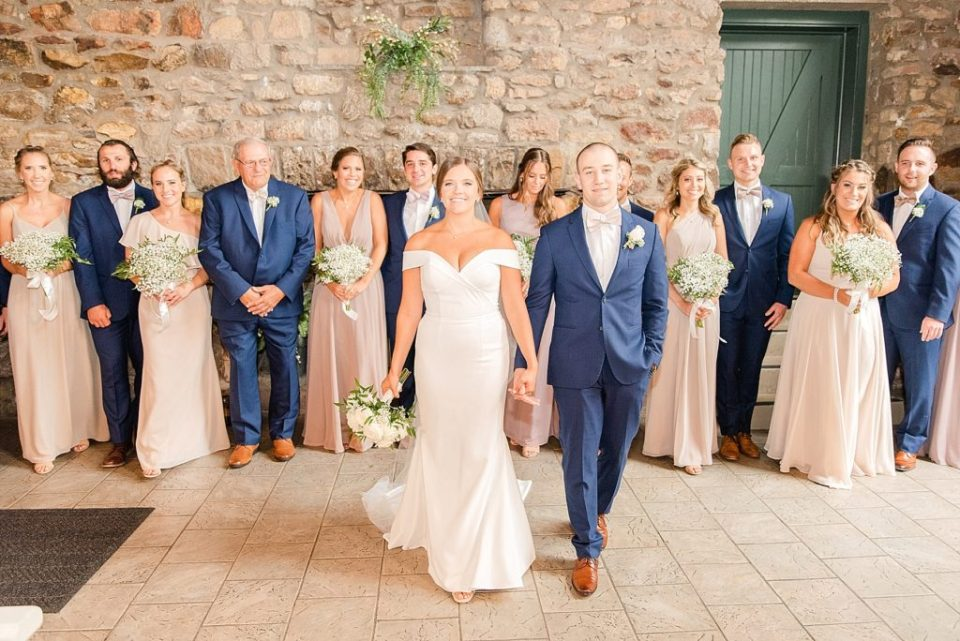 Renee Nicolo Photography photographs bride and groom with bridal party