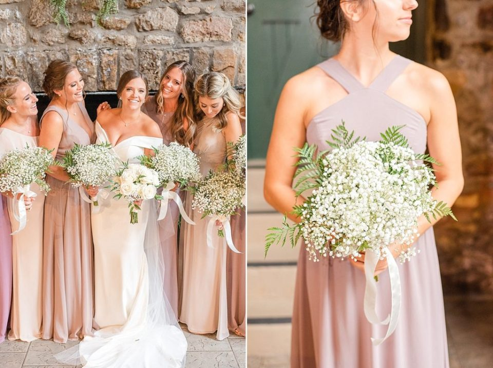 floral details for bridesmaids photographed by Renee Nicolo Photography
