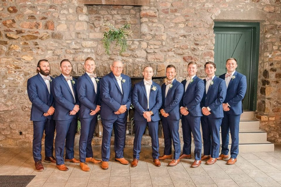 groomsmen on wedding day in PA photographed by Renee Nicolo Photography
