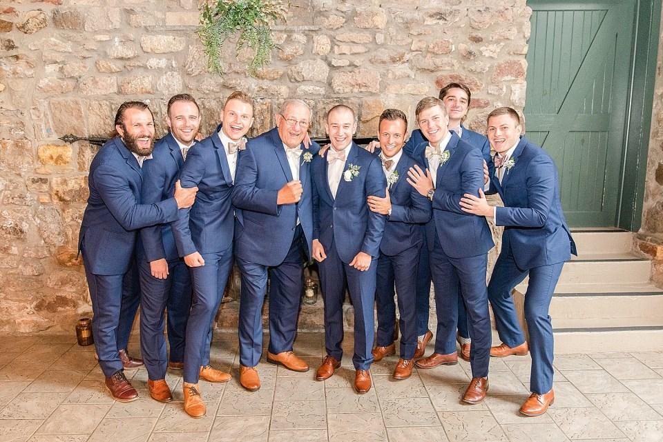 groomsmen in navy photographed by Renee Nicolo Photography