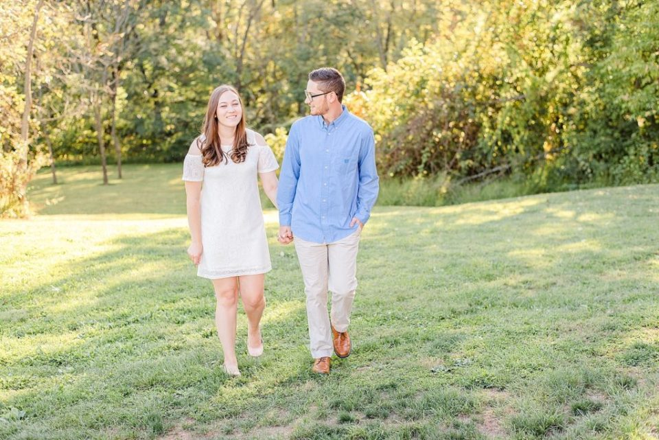 summer engagement session on farm with Renee Nicolo Photography