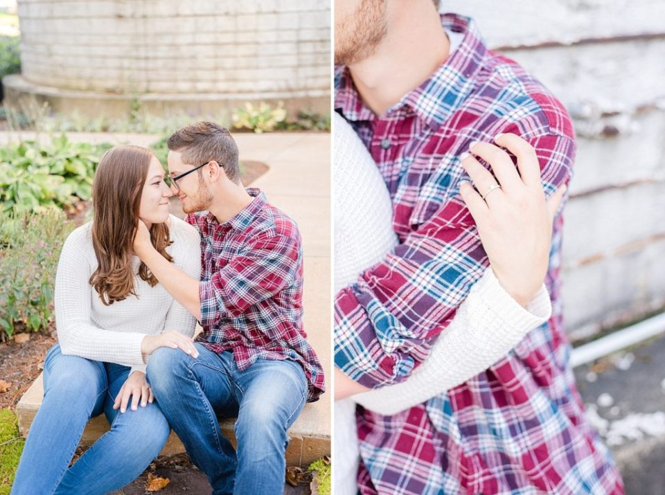 engagement session with rustic feel photographed by Renee Nicolo Photography