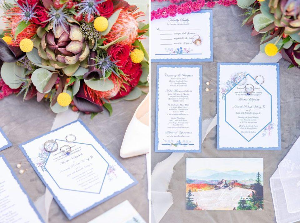 fall wedding stationery by Renee Nicolo Photography
