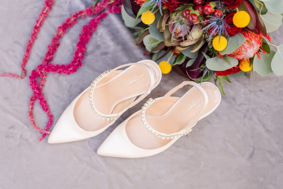 shoes for vintage bride photographed by Renee Nicolo Photography
