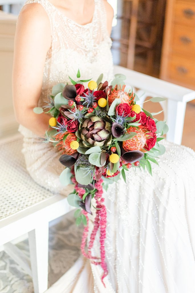 fall wedding bouquet idea photographed by Renee Nicolo Photography