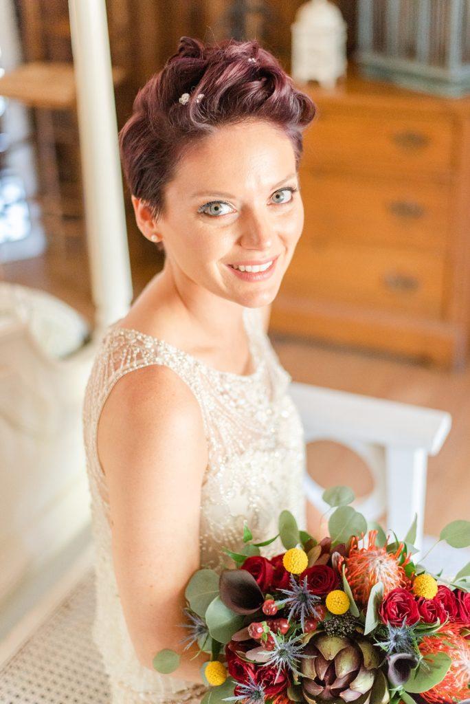 bridal portrait at Historic Stonebrook Farm wedding with Renee Nicolo Photography
