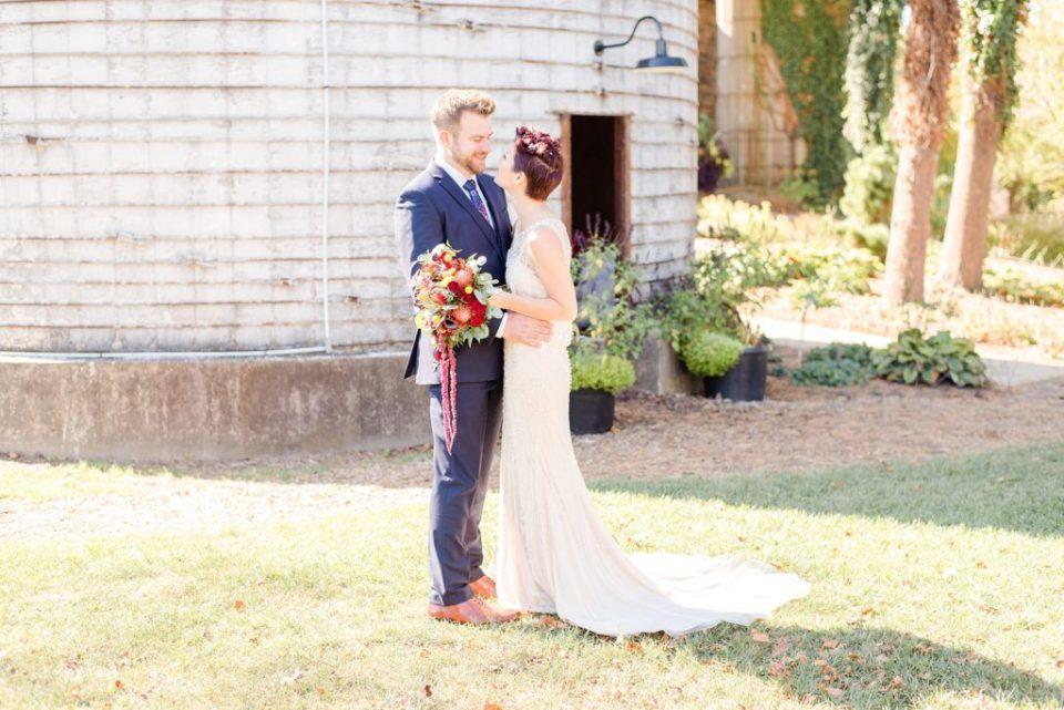 Fall wedding portraits in Bucks County PA by Renee Nicolo Photography