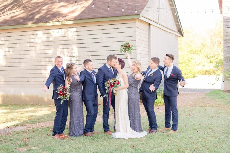 bridal party photographed in Bucks County PA with Renee Nicolo Photography