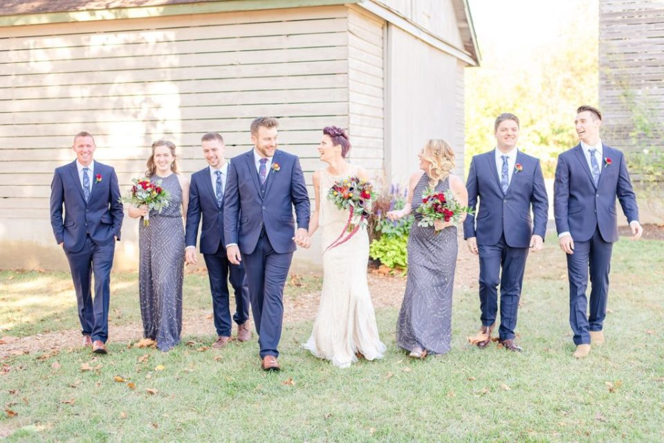 silver bridesmaid dresses photographed by Renee Nicolo Photography
