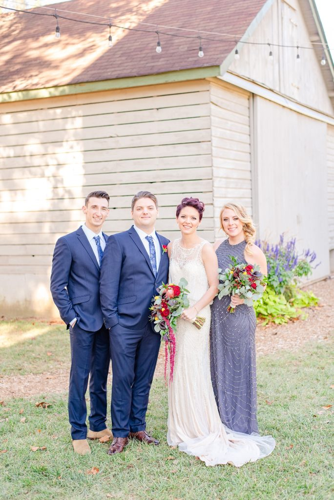 bride with bridal party photographed by Renee Nicolo Photography