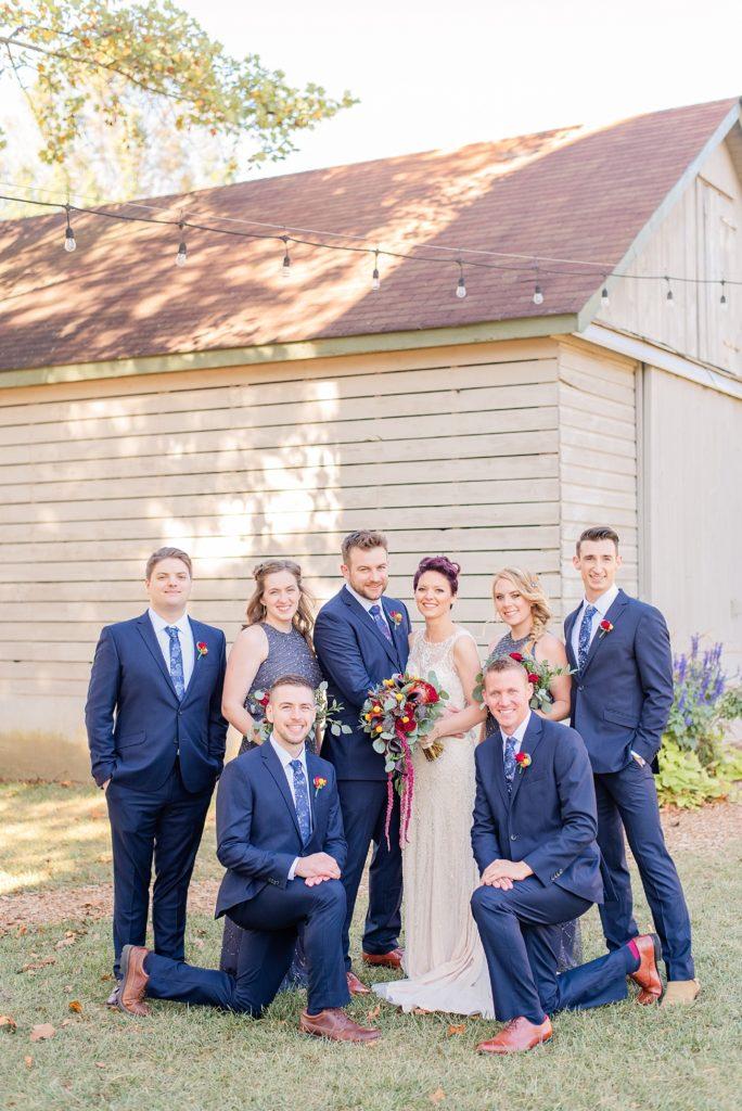 bridal party portraits at Historic Stonebrook Farm with Renee Nicolo Photography