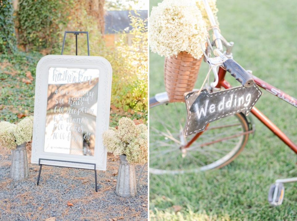 rustic chic wedding decor photographed by Renee Nicolo Photography