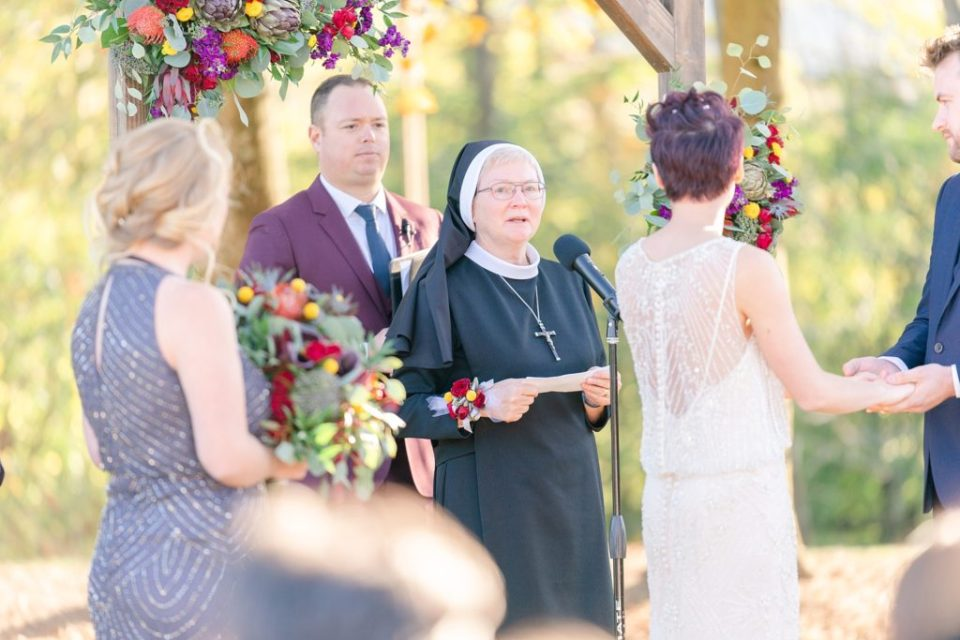 wedding ceremony reading photographed by Renee Nicolo Photography