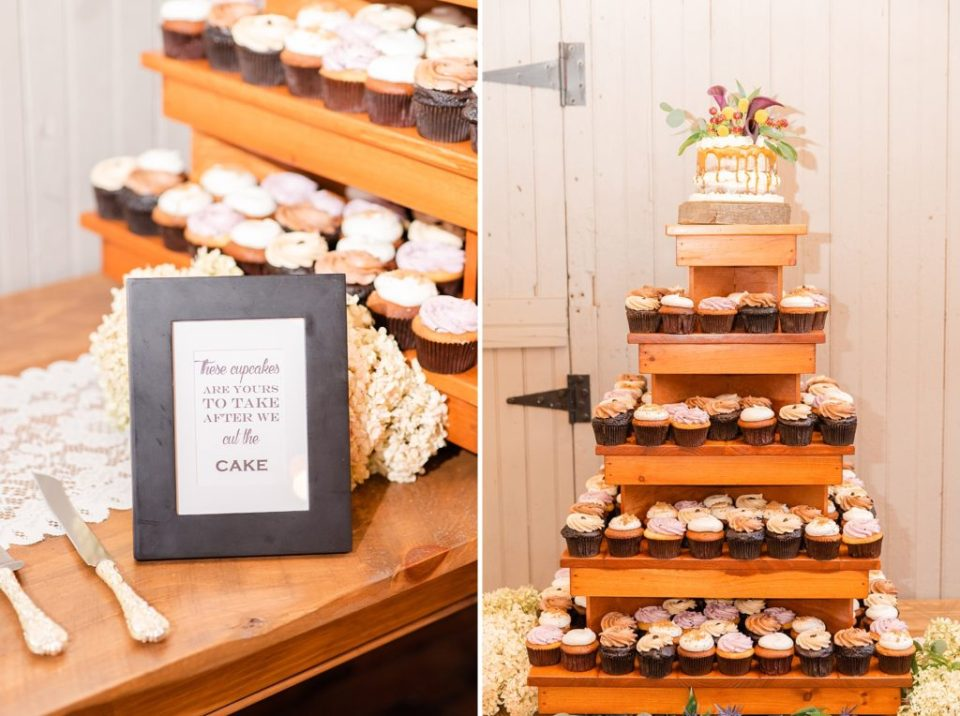 cupcakes for wedding guests photographed by Renee Nicolo Photography