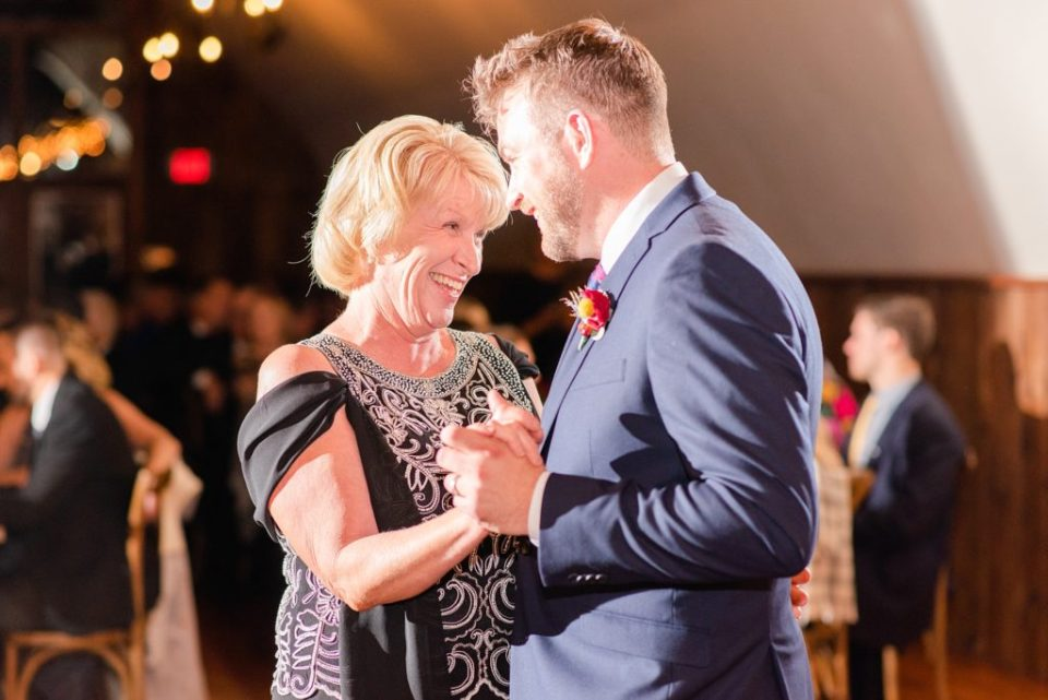 mother-son dance at PA reception photographed by Renee Nicolo Photography