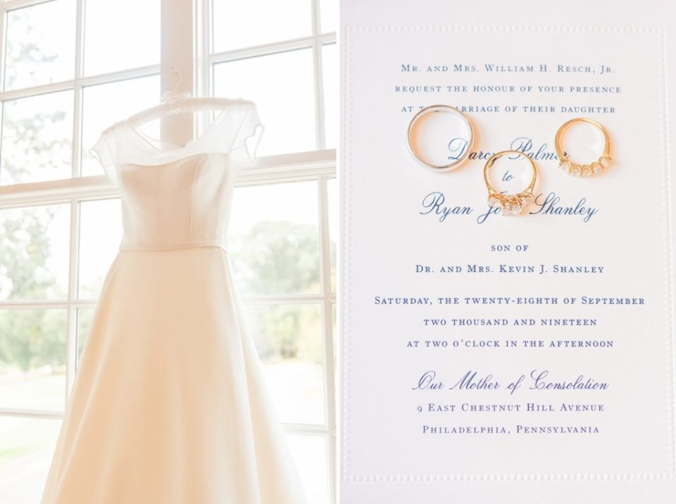 wedding gown and stationery photographed by Renee Nicolo Photography