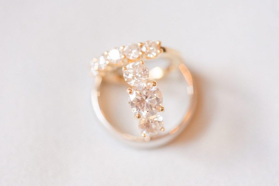 wedding rings photographed by Renee Nicolo Photography