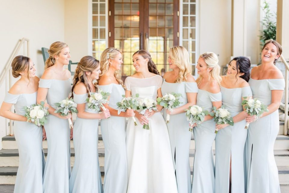 bridal party portraits in Lafayette Hill PA with Renee Nicolo Photography