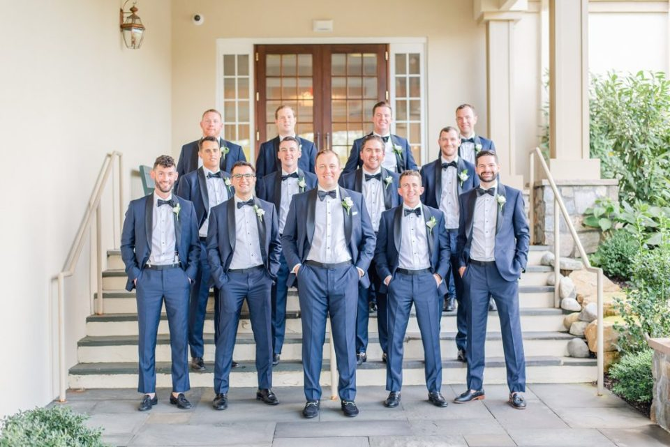 navy attire for groomsmen photographed by Renee Nicolo Photography