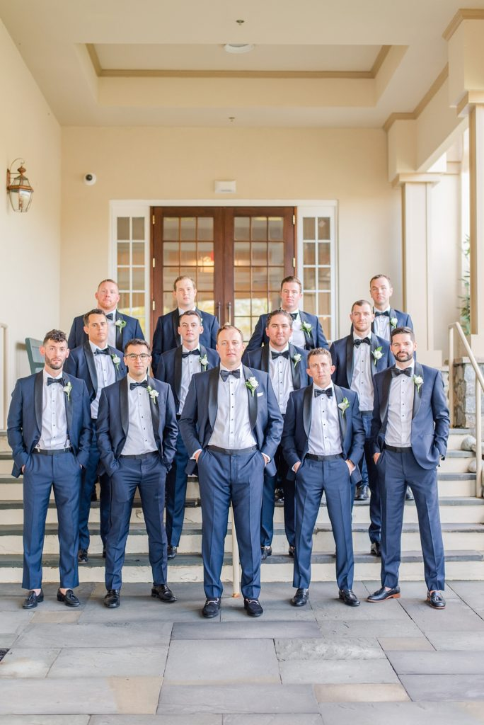 large group of groomsmen photographed by Renee Nicolo Photography