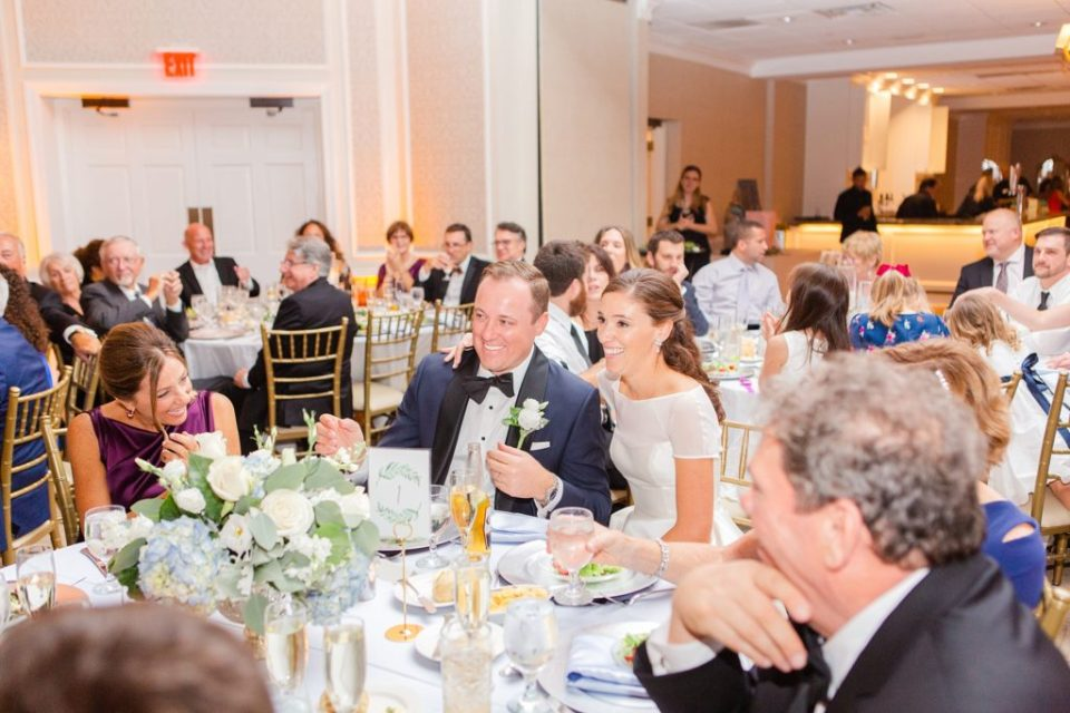 wedding toasts photographed by Renee Nicolo Photography at Whitemarsh Valley Country Club