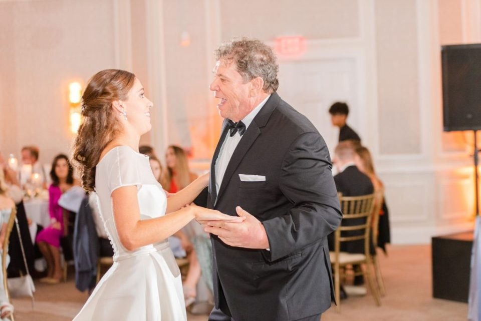 bride and dad dance photographed by Renee Nicolo Photography