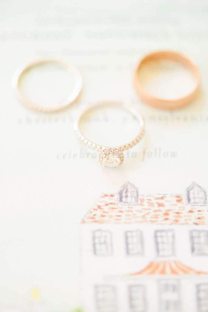 wedding ring details photographed by Renee Nicolo Photography
