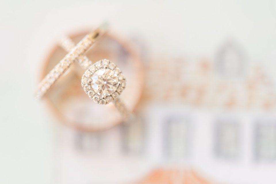 Renee Nicolo Photography photographs wedding rings for PA wedding
