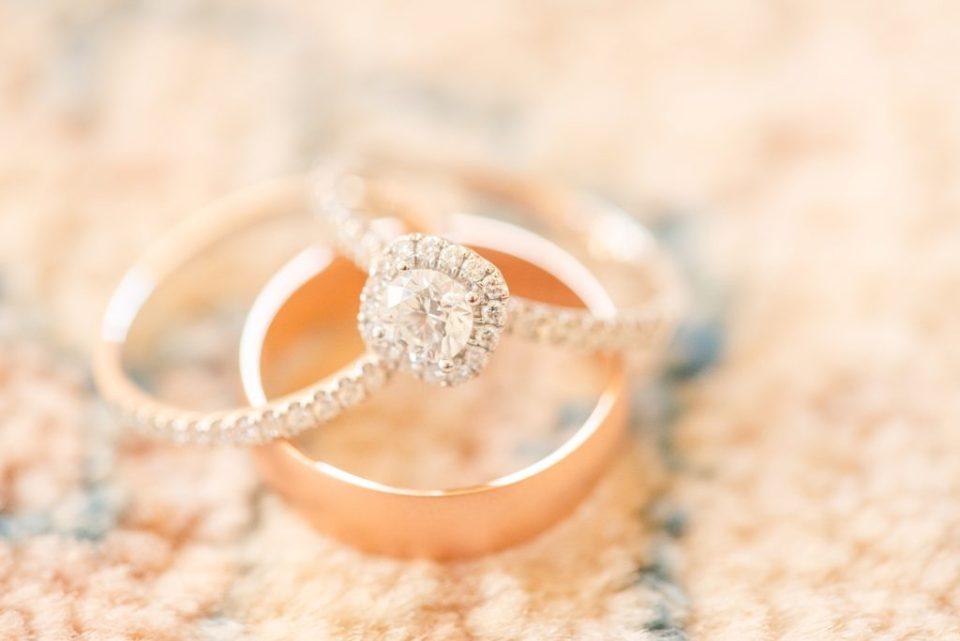 wedding bands for intimate wedding day with Renee Nicolo Photography