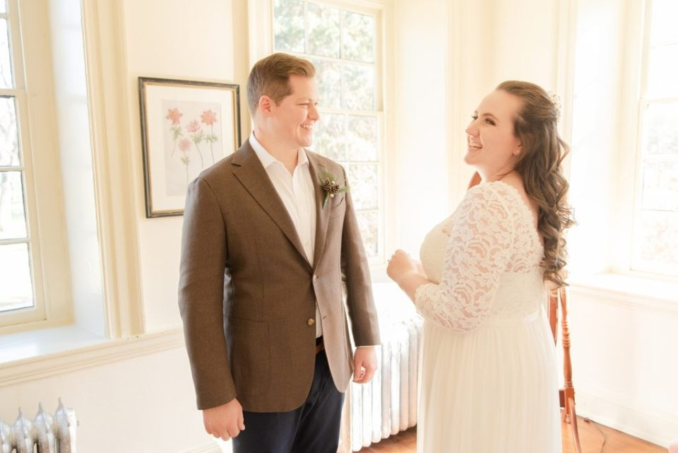 Renee Nicolo Photography photographs couple preparing for wedding day