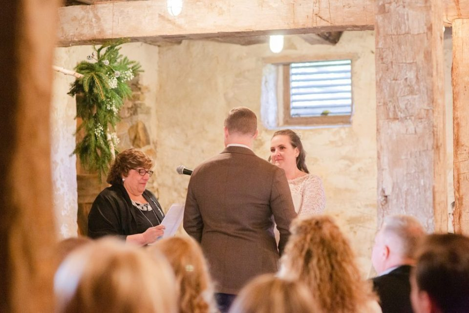 intimate wedding ceremony photographed by Renee Nicolo Photography