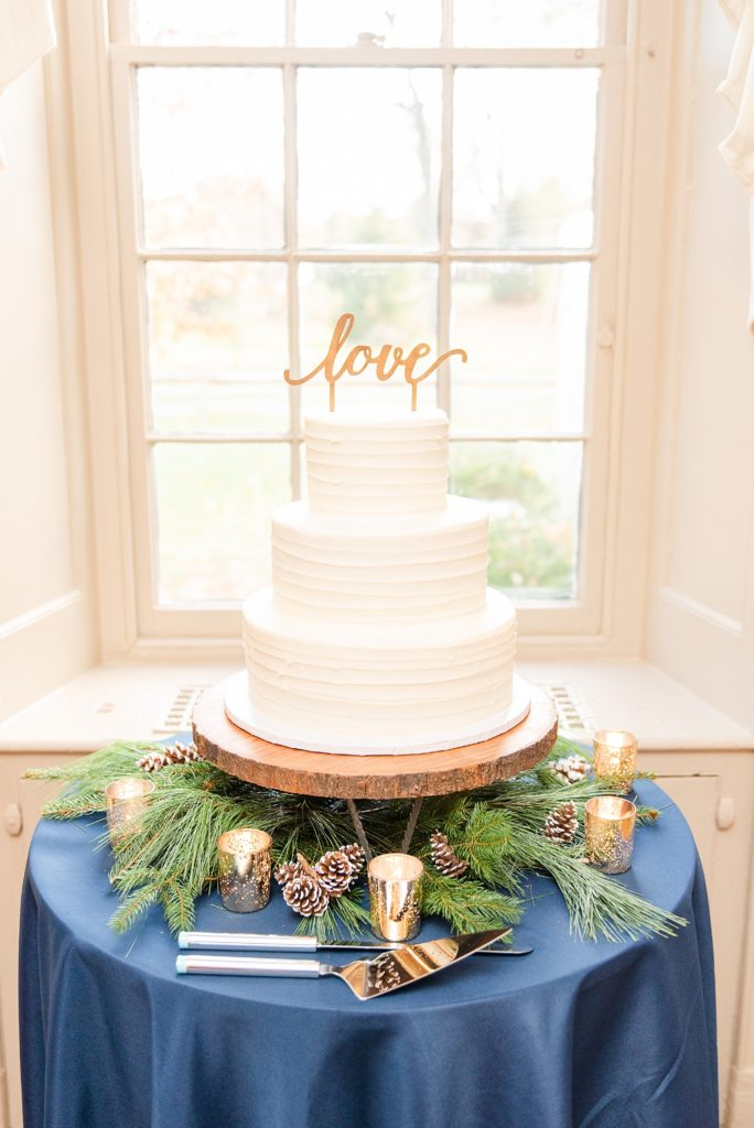 tiered wedding cake by the Happy Mixer photographed by Renee Nicolo Photography
