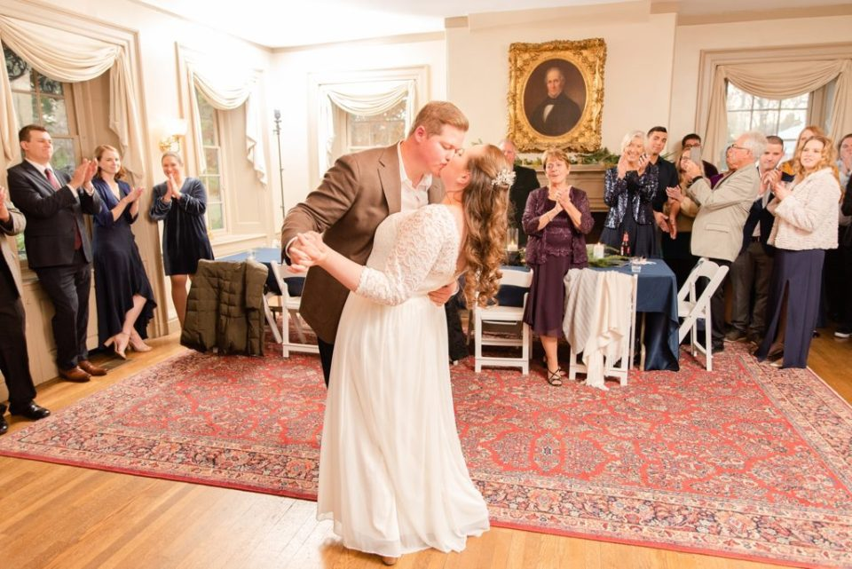 first dance at Duportail House wedding with Renee Nicolo Photography
