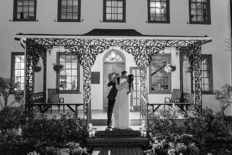 nighttime wedding portraits photographed b yPA wedding photographer Renee Nicolo Photography