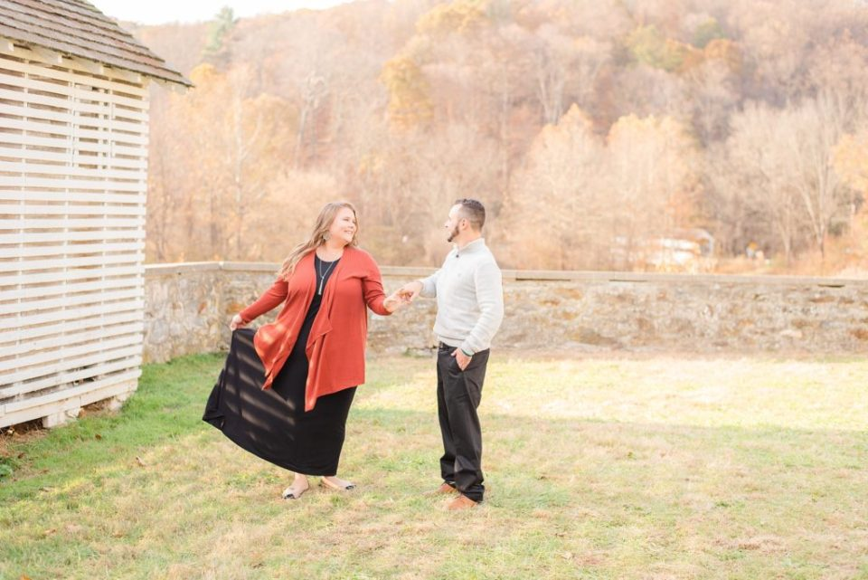 fall engagement session with Renee Nicolo Photography