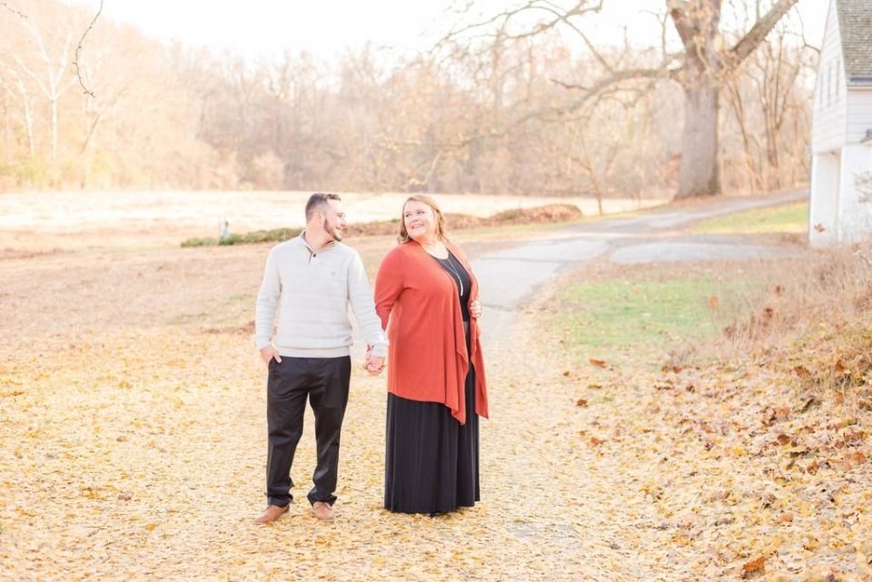 fall engagement session photographed by PA wedding photographer Renee Nicolo Photography