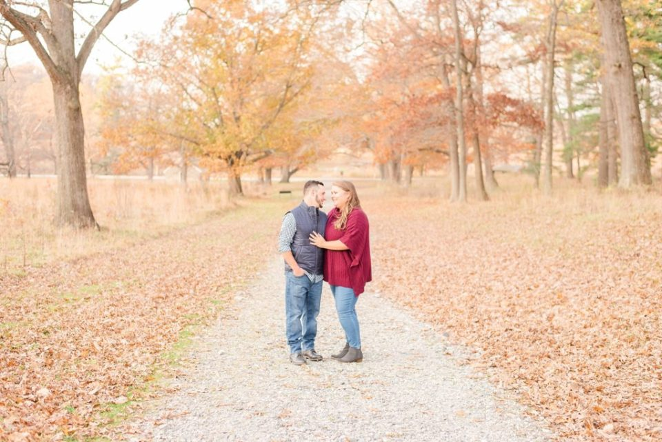 PA engagement session in the fall with Renee Nicolo Photography