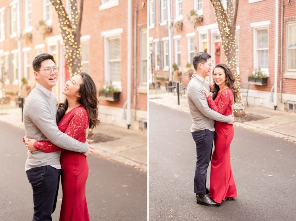 engagement session on Addison Street in Philly PA with Renee Nicolo Photography
