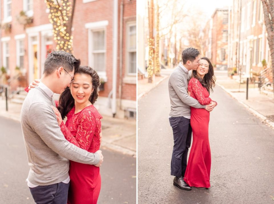 snowy engagement session by Renee Nicolo Photography