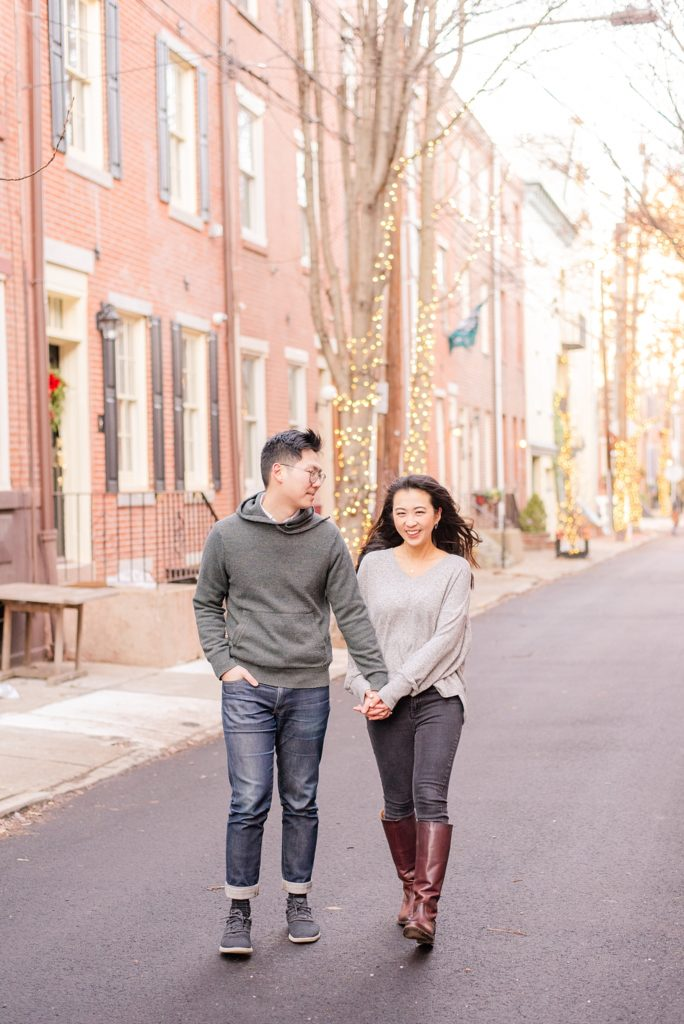 winter engagement portraits in Philly PA with Renee Nicolo Photography