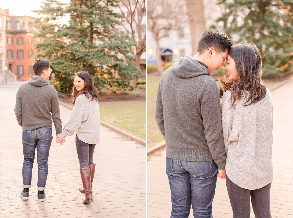 winter city engagement photos by Renee Nicolo Photography