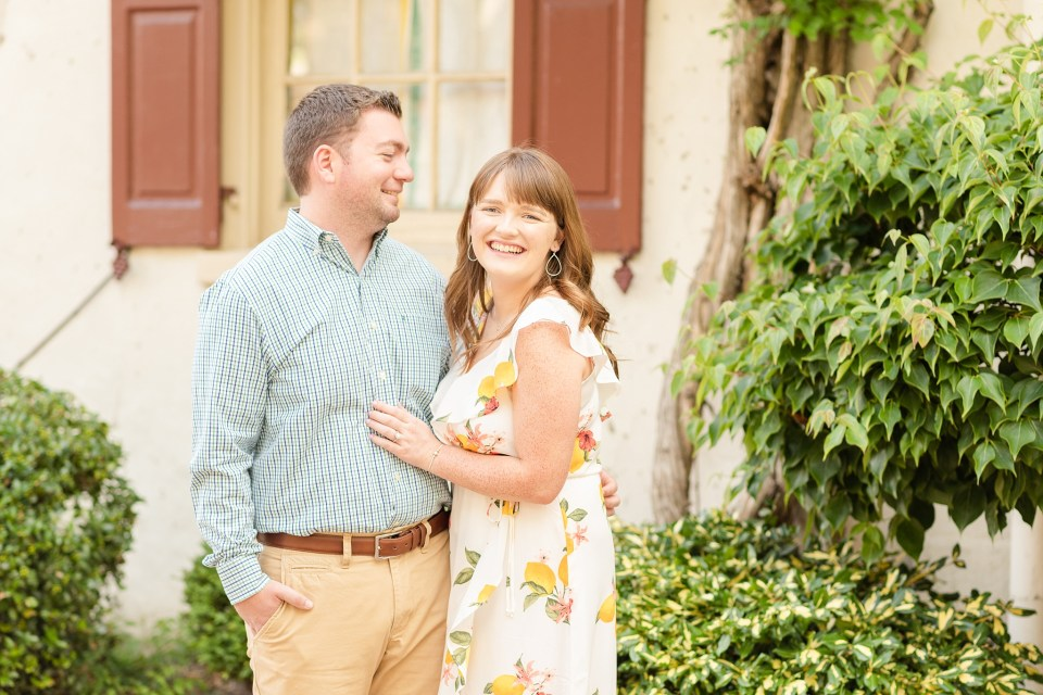 Renee Nicolo Photography photographs Chestnut Hill engagement session