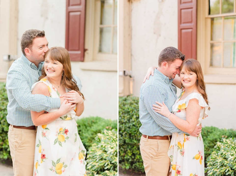 Renee Nicolo Photography photographs engaged couple in Chestnut Hill